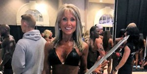 mary margaret at bodybuilding competition