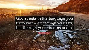 God speaks in the language of the heart